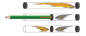 Alloggiamento Tube Flies